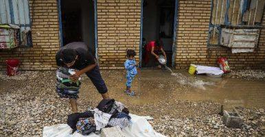 گزارش تصویری از تخلیه روستاهای در معرض سیل در بامدژ اهواز
