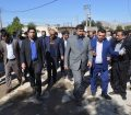 بازدید مدیرکل مدیریت بحران و جمعی از مدیران اُستان خوزستان از روند بازسازی منازل آسیب دیده شهر گُل گیر