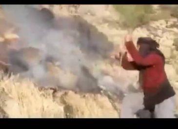 دستگیری عاملان آتش سوزی مراتع در مسجدسلیمان