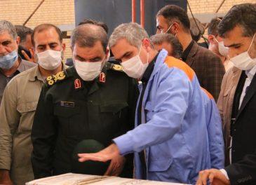 بازدید دکتر محسن رضایی از کارخانه آلومینیوم مسجدسلیمان